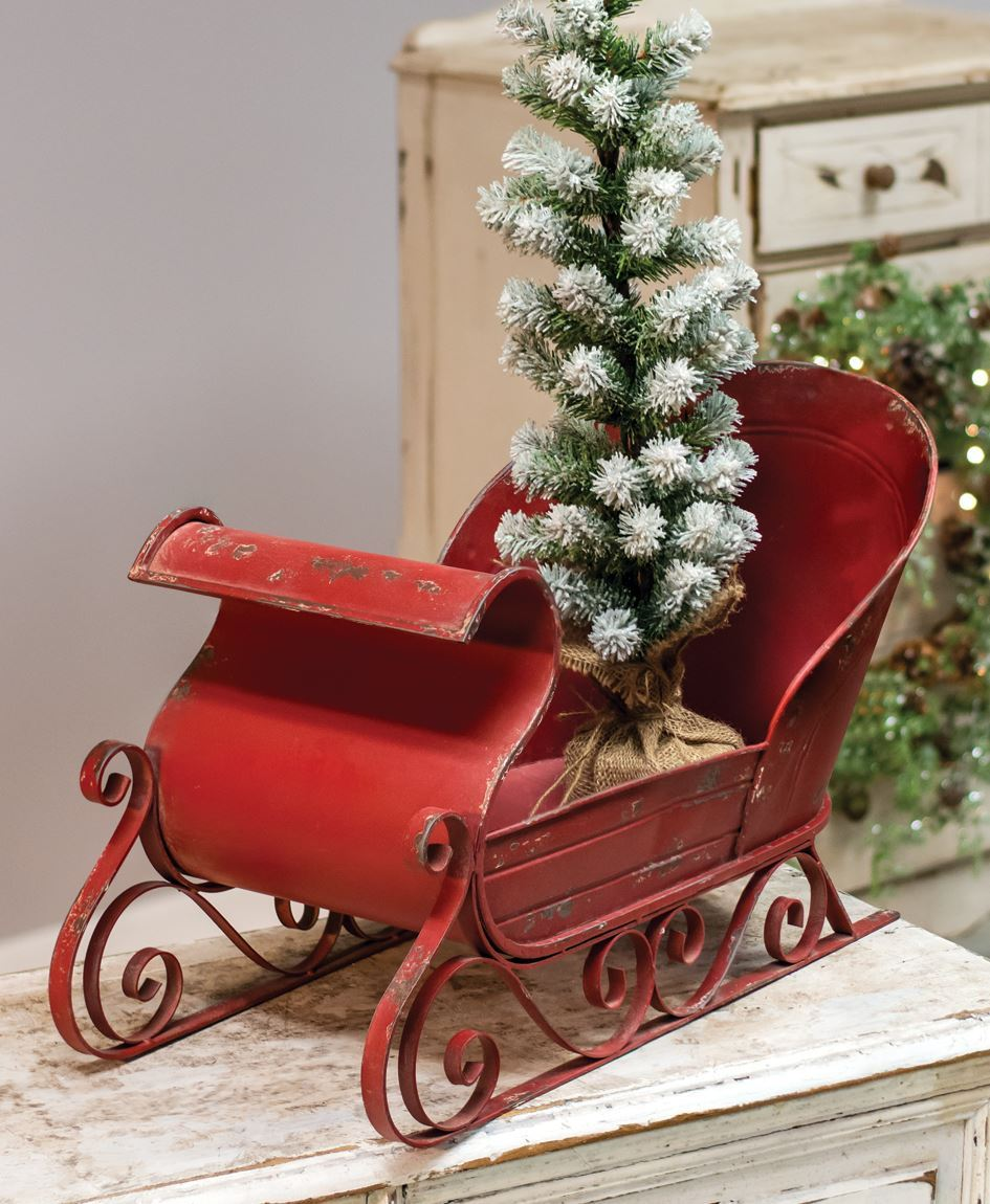 Col House Designs Retail Rustic Red Sleigh Craft House Designs