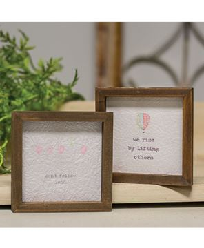 """Picture of Mini Framed Watercolor Art, 4"""" - Rise 2/Set"""