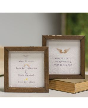 """Picture of Mini Framed Watercolor Block, 4""""- Fly, 2/set"""