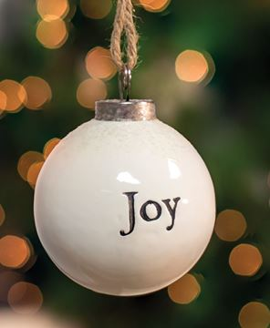 Picture of Joy White Ceramic Ornament