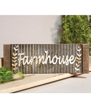 Picture of Framed Galvanized Metal Farmhouse Wall Sign
