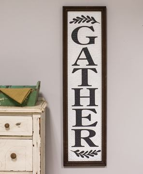 Picture of Basket-Weave Textured Framed Gather Sign