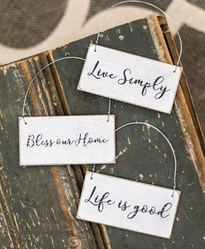 Picture of Live Simply Ornament, 3/set