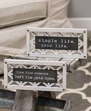 Picture of Gate Open Life Lattice Sign