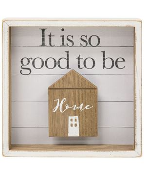 Picture of Good to be Home Shadow Box Sign