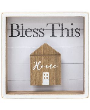 Picture of Bless this Home Shadow Box Sign