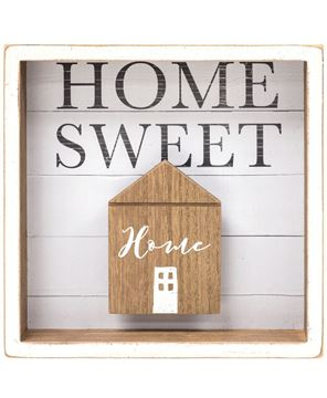 Picture of Home Sweet Home Shadow Box Sign