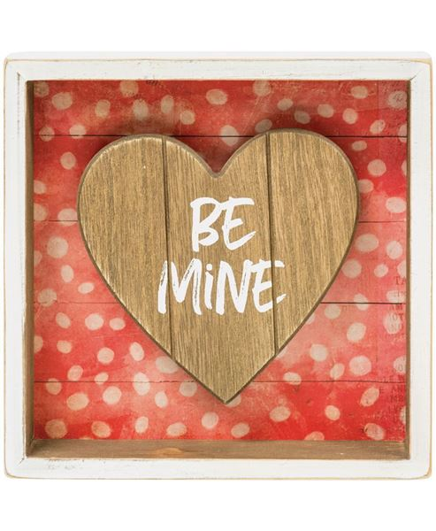 Picture of Be Mine Shadow Box Sign