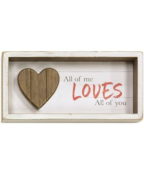 Picture of Loves all of You Shadow Box Sign