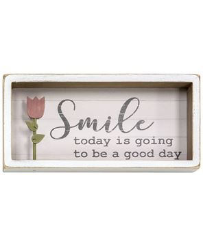 Picture of Smile Tulip Shadow Box Sign