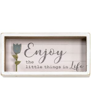 Picture of Enjoy Tulip Shadow Box Sign