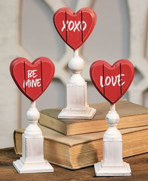 Picture of Be Mine Heart Pedestals, 3/set