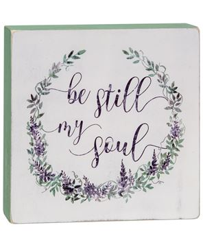 Picture of Be Still Box Sign
