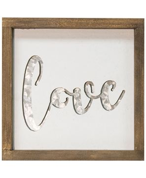Picture of Framed Love Sign with Metal Cutout