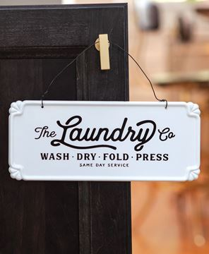 Picture of The Laundry Co. Vintage Hanging Sign