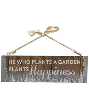 Picture of Plant Happiness Slatted Wood Hanger