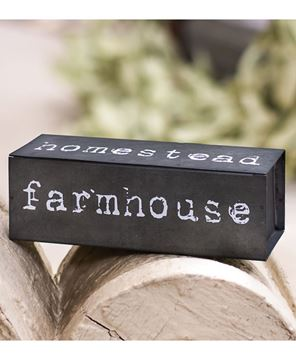 Picture of Farmhouse Four-sided Metal Block