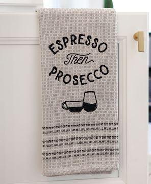 Picture of Espresso Then Prosecco Dish Towel