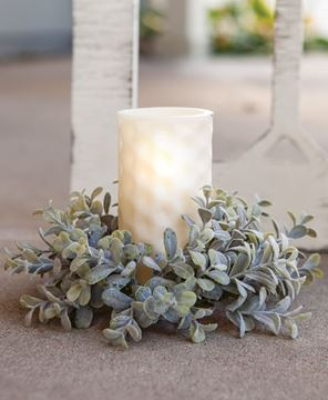 Picture of Pebble Eucalyptus Candle Ring, 3""