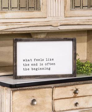 Picture of The Beginning Framed Sign