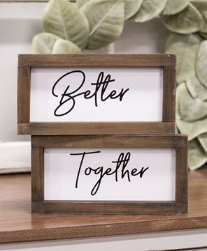 Picture of Better Together Duo Framed Signs