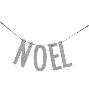 "Picture of ""Noel"" Silver Wood Garland"