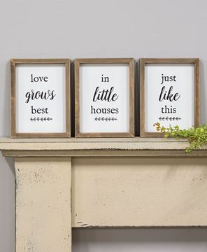 Picture of Love Grows Best Framed Sign Set