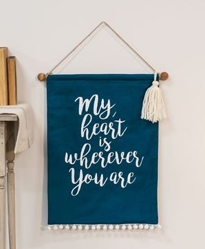 Picture of My Heart Fabric Banner