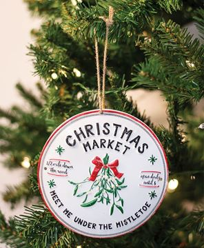 Picture of Christmas Market Mistletoe Enamel Ornament