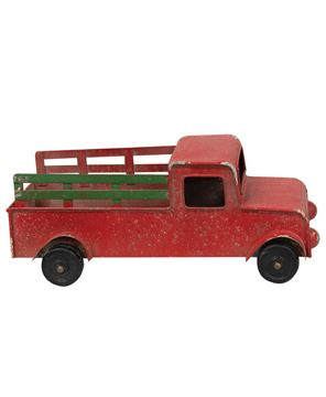Picture of Winter Red Pickup Truck
