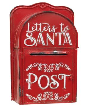 Picture of Letters to Santa Post Box, Red