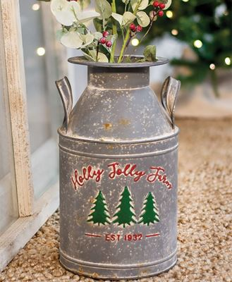 Picture of Holly Jolly Farm Milk Can