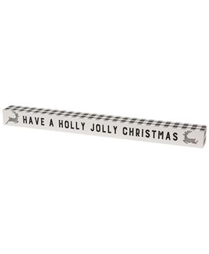 Picture of Holly Jolly Christmas Buffalo Check Sitter