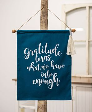 Picture of Gratitude Fabric Banner