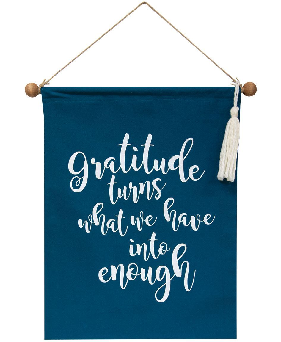 Col House Designs Retail Gratitude Fabric Banner Craft House Designs