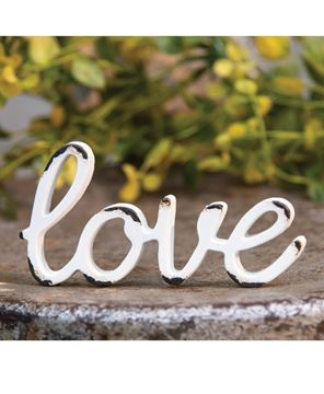 Picture of Love Distressed White Resin Figurine