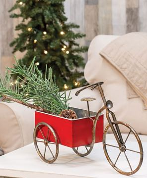 Picture of Rustic Red Bike Table Accent