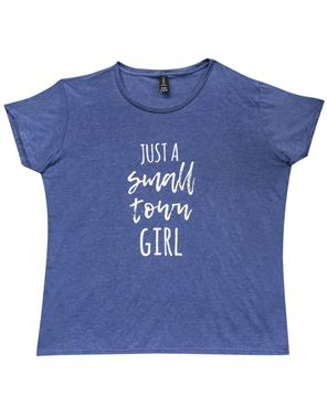 Picture of Small Town Girl Tee, Blue - XXL