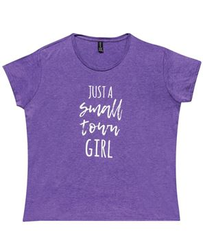 Picture of Small Town Girl Tee, Purple - XXL