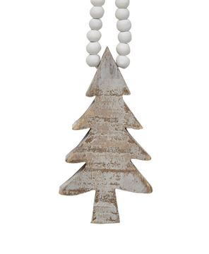 Picture of Distressed Wooden Tree Ornament