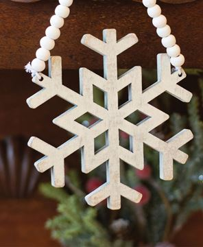 Picture of Distressed Wooden Snowflake Ornament