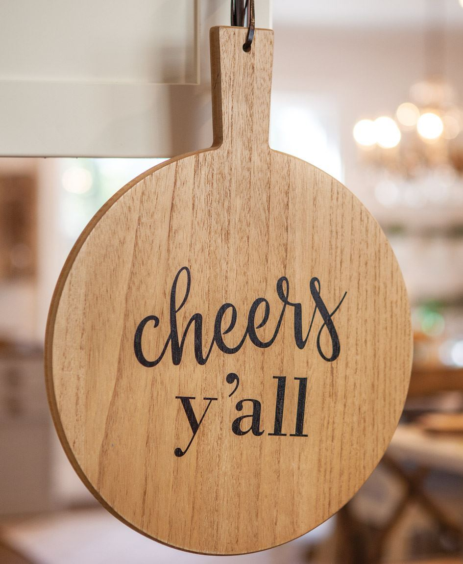 Col House Designs Retail Cheers Y All Cutting Board Wall Hanger Craft House Designs