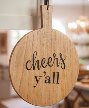 Picture of Cheers Y'all Cutting Board Wall Hanger