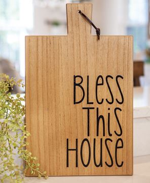 Picture of Bless This House Cutting Board
