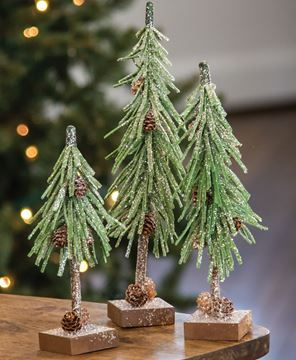 Picture of Glittered Pinecone Tree, 12 inch