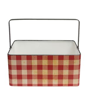 Picture of Buffalo Check Metal Basket