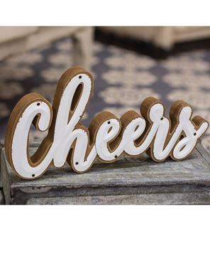 Picture of White Enamel 'Cheers' Sitter
