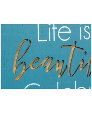Picture of Life Is Beautiful Framed Cutout Wall Art