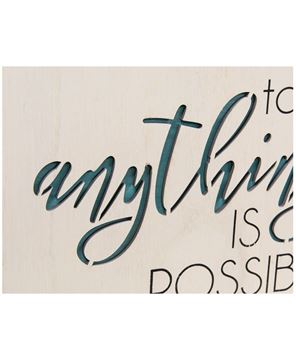 Picture of Anything Is Possible Framed Cutout Wall Art