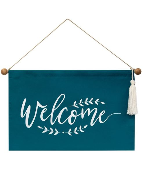"""Picture of Fabric """"Welcome"""" Banner"""